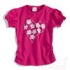 Dievčenské tričko KVETINKY, SRDCE