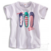 Detské tričko balerínky 'FABULOUS' Dirkje biele