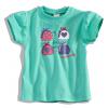 Dievčenské tričko s krátkym rukávom 'FABULOUS' DIRKJE zelené