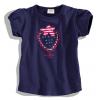 Dievčenské tričko s krátkym rukávom DIRKJE jahôdka tmavomodré