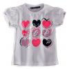 Dievčenské tričko 'LOVING HEARTS'