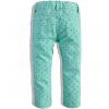Dievčenské zateplené džínsy DIRKJE s potlačou srdiečok, zelené