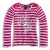 Dievčenské tričko dlhý rukáv PEBBLESTONE prúžky ružové