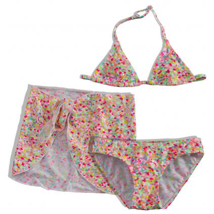 Dievčenské plavky + pareo DIRKJE farebná potlač