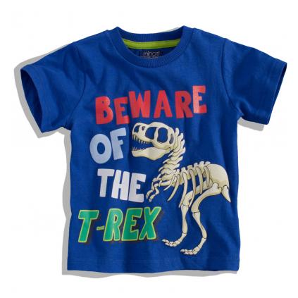 Chlapčenské tričko s krátkym rukávom Minoti BITE T-REX modré