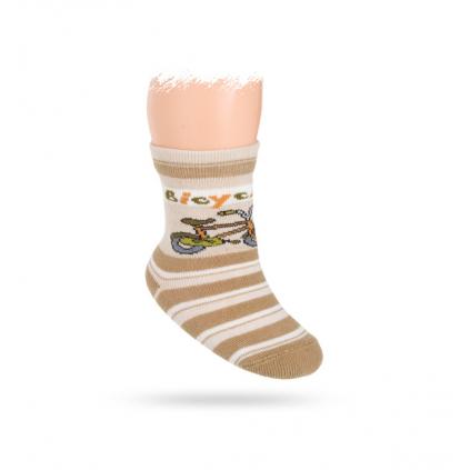 Vzorované ponožky WOLA, BICYKEL