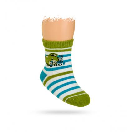 Dojčenské ponožky, vzor MACKO