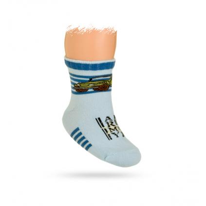Dojčenské ponožky, vzor AUTO