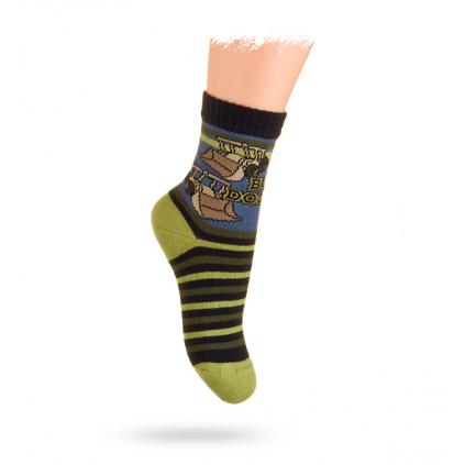Detské ponožky s obrázkom WOLA, BAGRE