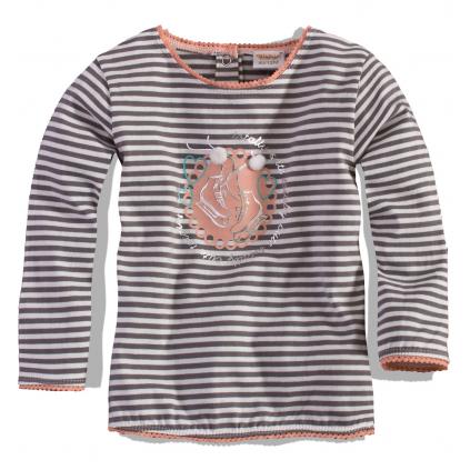 Dievčenské tričko DIRKJE korčule, sivo-ružové