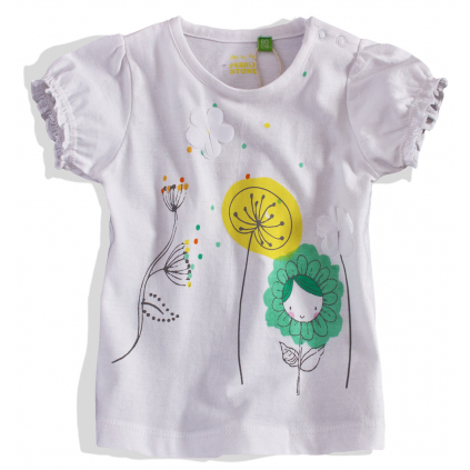 Dievčenské tričko krátky rukáv PEBBLESTONE
