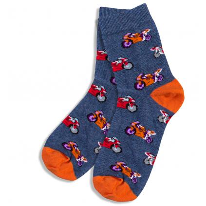 Vzorované detské ponožky GATTA, MOTORKY WOLA