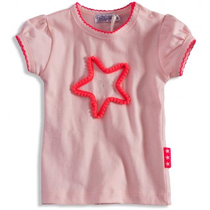 Dievčenské tričko so srdiečkom Dirkje PINKY STAR bledoružové