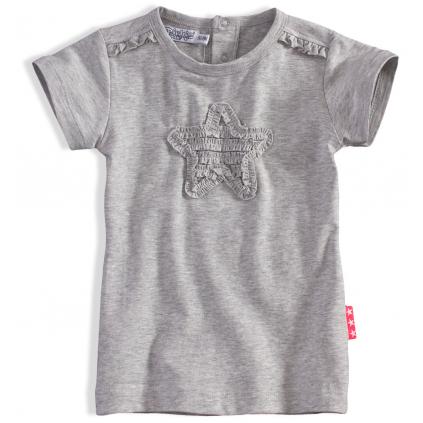 Detské tričko Dirkje PINKY STAR sivé