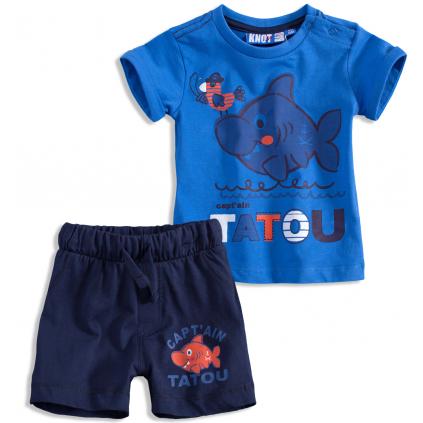 Dojčenská letná súprava TATOU KNOT SO BAD modrá