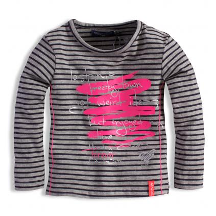 Dojčenské dievčenské tričko s potlačou DIRKJE ŠEDÉ