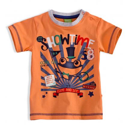 Detské tričko PEBBLESTONE ŽABIAK oranžové