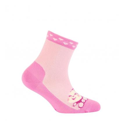 Dievčenské vzorované ponožky GATTA OPIČKA ružové
