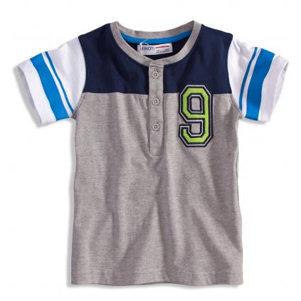 Chlapčenské tričko Minoti GREEN šedé