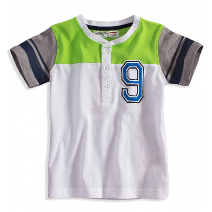 Chlapčenské tričko Minoti GREEN biele