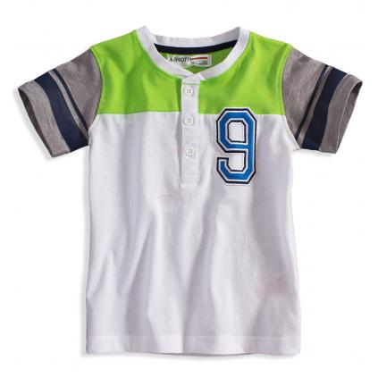 Detské tričko Minoti GREEN biele