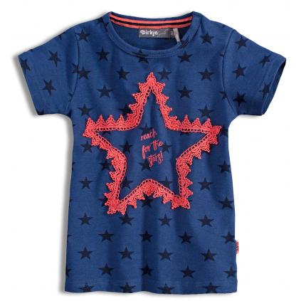 Detské tričko s krátkym rukávom DIRKJE STARS modré