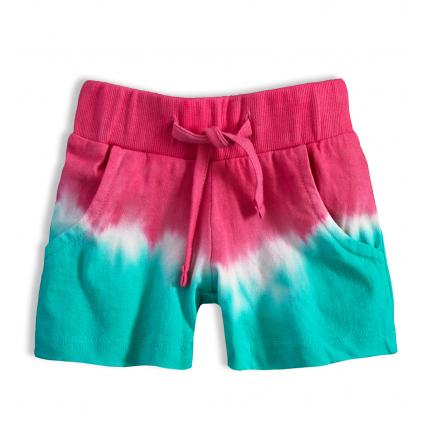 Dievčenské šortky KNOT SO BAD BATIKA ružový pás