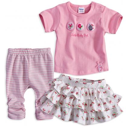 Dojčenská dievčenská súprava DIRKJE LITTLE BABY ružová