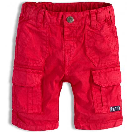 Chlapčenské šortky PEBBLESTONE OCEAN BEACH červená