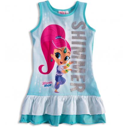 Dievčenské letné šaty SHIMMER & SHINE SHIMMER tyrkysové