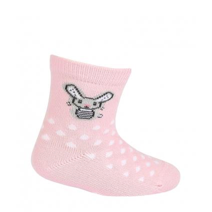 Dievčenské ponožky GATTA ZAJAČIK ružové