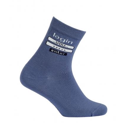Chlapčenské vzorované ponožky GATTA LOGIN modré