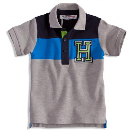 Chlapčenské polo tričko MINOTI GREEN šedé