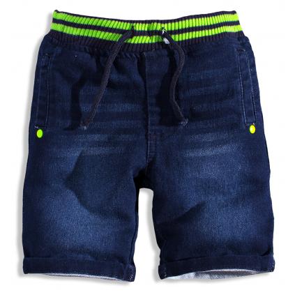 Chlapčenské šortky MINOTI GREEN zelený pás