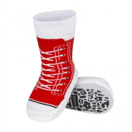 Papučky s koženou podošvou SOXO TENISKY červená