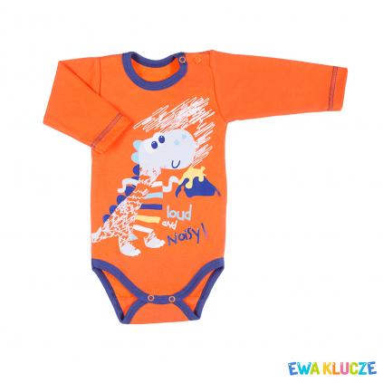 Dojčenské body EWA KLUCZE DINO oranžové