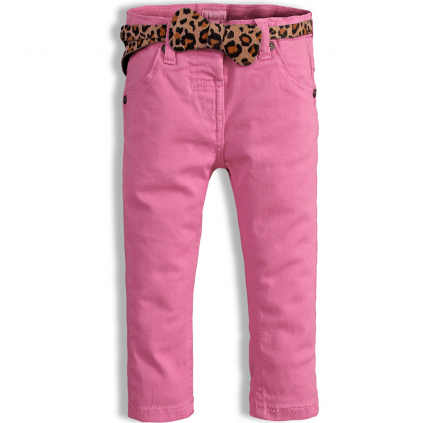 Dievčenské nohavice MINOTI PARTY svetloružové