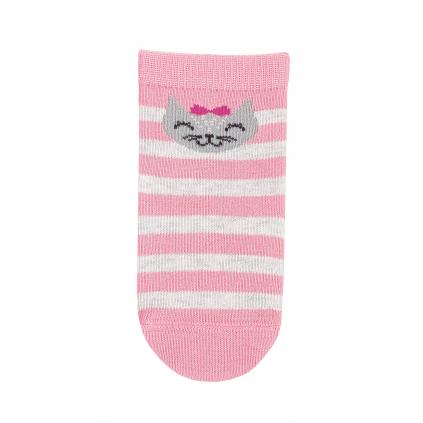 Dievčenské dojčenské ponožky WOLA MAČIČKA ružové