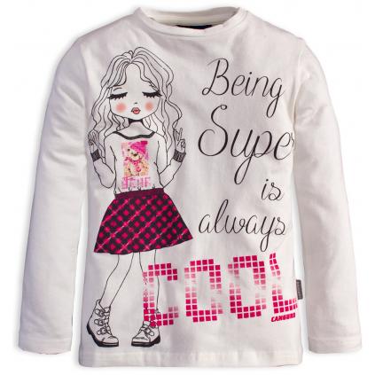 Dievčenské tričko s potlačou CANGURO COOL biele