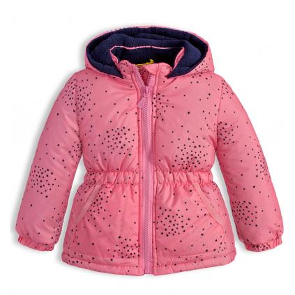 Detská zimná bunda LEMON BERET HVIEZDIČKY ružová