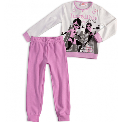 Dievčenské pyžamo DISNEY INCREDIBLES Rodinka Úžasných fialové