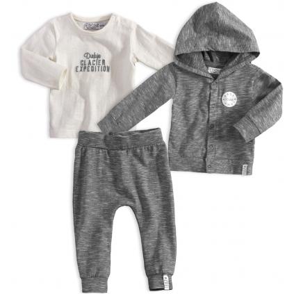 Dojčenská chlapčenská súprava DIRKJE GRIS šedá