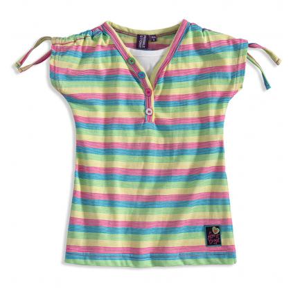 Dievčenské tričko PEBBLESTONE SUMMER modré prúžky