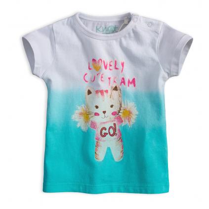 Dievčenské tričko KNOT SO BAD CUTE TEAM tyrkysové