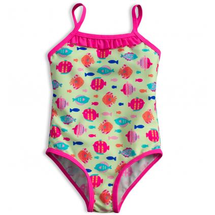 Dievčenské plavky KNOT SO BAD RYBKY zelené