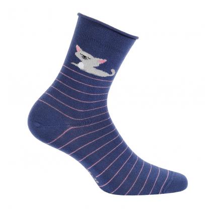Dievčenské ponožky GATTA MAČKA modré