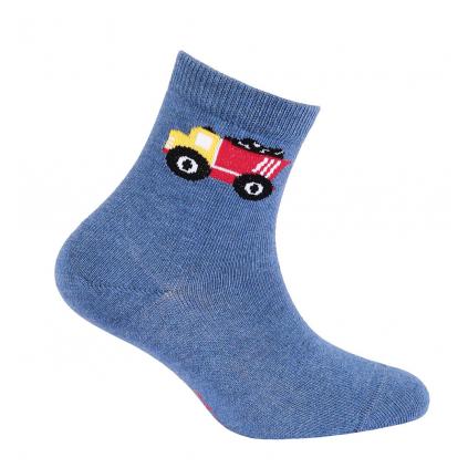 Chlapčenské ponožky s obrázkom GATTA NÁKLADNÉ AUTO modré