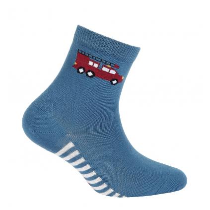 Chlapčenské vzorované ponožky GATTA POŽIARNICI modré lazur