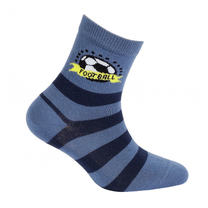 Chlapčenské vzorované ponožky GATTA FOOTBALL modré
