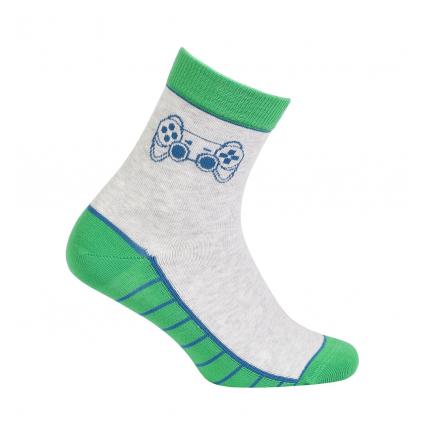 Vzorované chlapčenské ponožky GATTA GAME šedé
